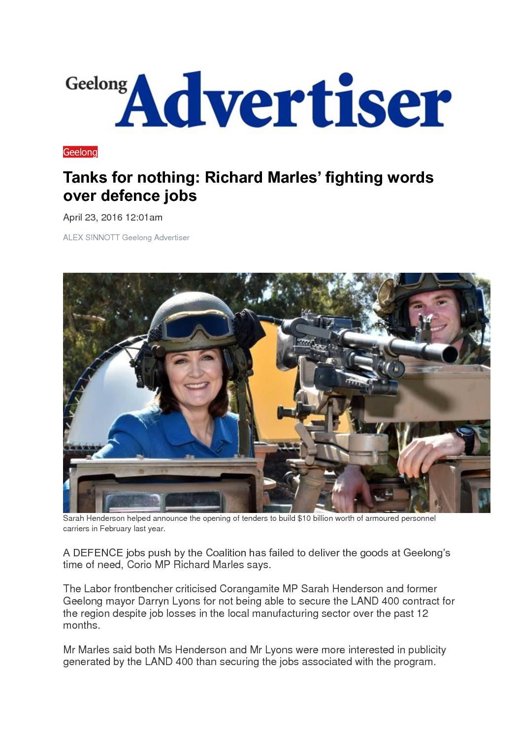 16.04.23 Land 400 Geelong Advertiser