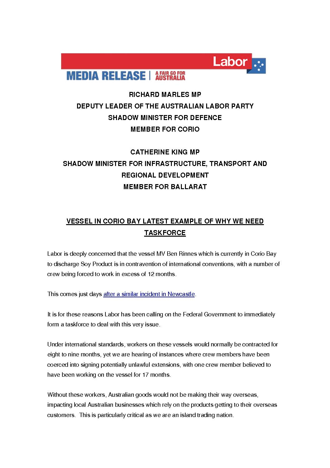 20.08.06-VESSEL-IN-CORIO-BAY-LATEST-EXAMPLE-OF-WHY-WE-NEED-TASKFORCE-MEDIA-RELEASE