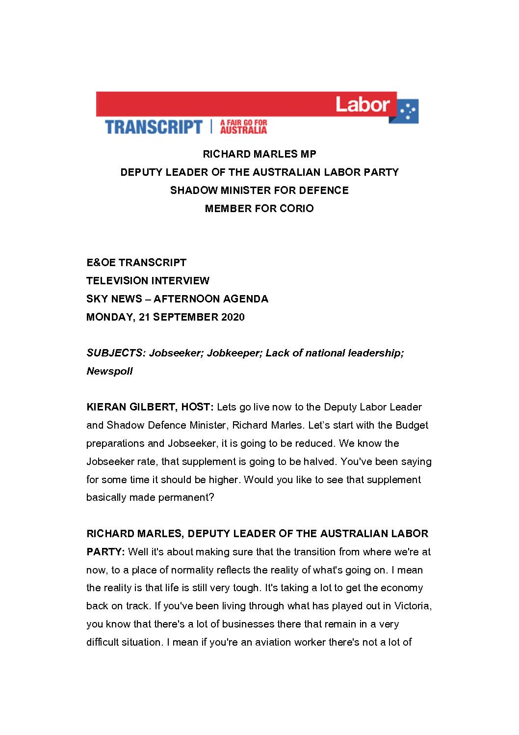 20.09.21-SKY-NEWS-AM-AGENDA-WITH-KIERAN-GILBERT-TRANSCRIPT